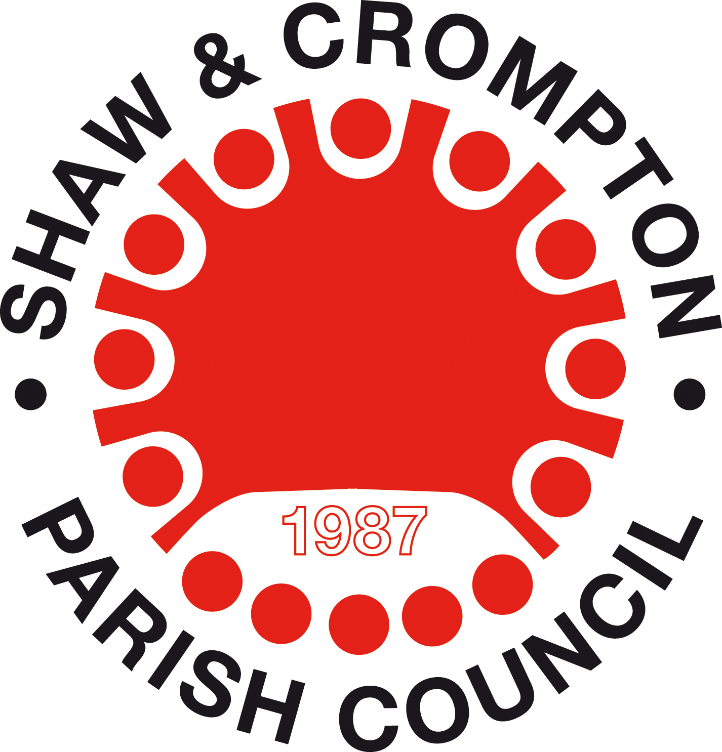 Shaw and Crompton logo red and blk